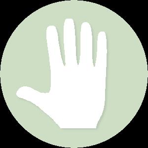 icoontje welkom hand